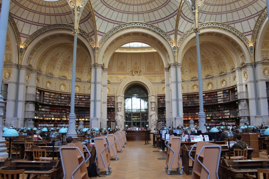 Bibliothèque Nationale Richelieu : la salle de lectureLabrouste